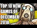 Top 10 NEW Games of December 2018 To Look Forward To [PS4, Xbox One, Switch, PC]
