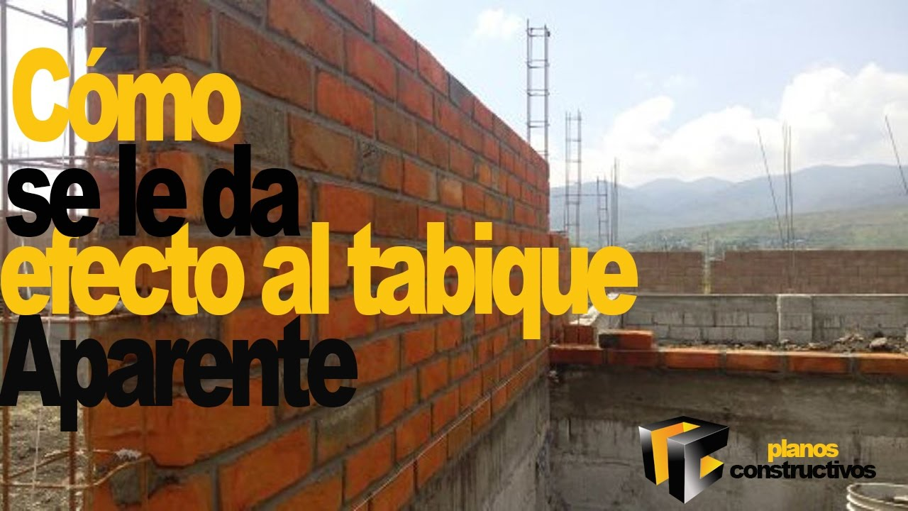 Colocacion De Tabique Aparente Youtube