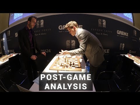 Carlsen and Meier Analyze Their Game | GRENKE Chess Classic 2019