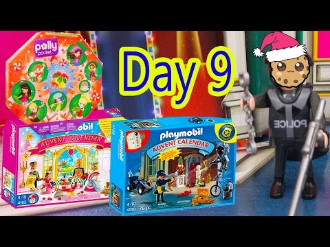 Polly Pocket, Playmobil Holiday Christmas Advent Calendar Day 9 Toy Surprise Opening Video