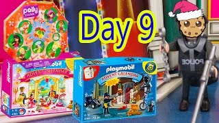 polly pocket playmobil holiday christmas advent calendar day 9 toy surprise opening video