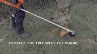 How to work around obstacles with Husqvarna trimmers and brushcutters