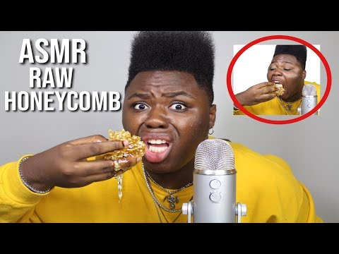 I Tried ASMR... Eating RAW HONEYCOMB (Extremely Sticky Sounds)