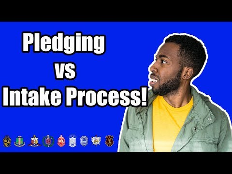 THE PLEDGE PROCESS VS THE INTAKE PROCESS | NPHC ADVICE
