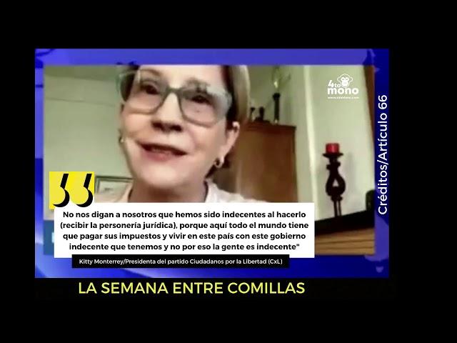 Kitty Monterrey defiende personería jurídica de CxL