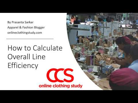 How to calculate line efficiency in the garment industry