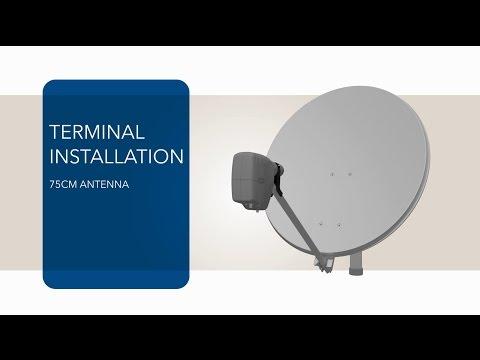 VSAT Terminal Tutorial - 75cm Antenna And MDM2200 IP Satellite Modem Installation - Newtec Dialog®