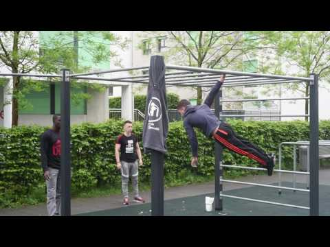 Démonstration de street workout à Genève HD