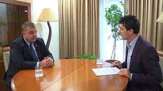 """Eксклузивно интервю на вицепремиера Красимир Каракачанов за скопската телевизия """"Канал 5"""""""