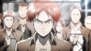 Attack on Titan OP1 English Dub with Sub