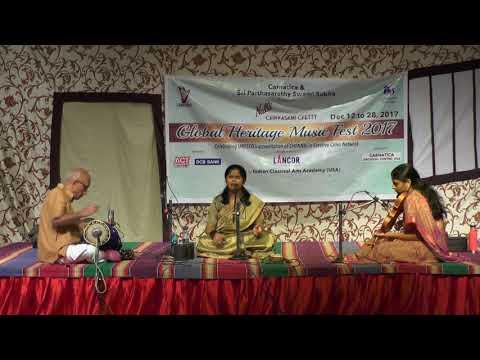 Shruthi Raj l Carnatic Vocal  l Global Heritage Music Fest 2017 l Web Streaming