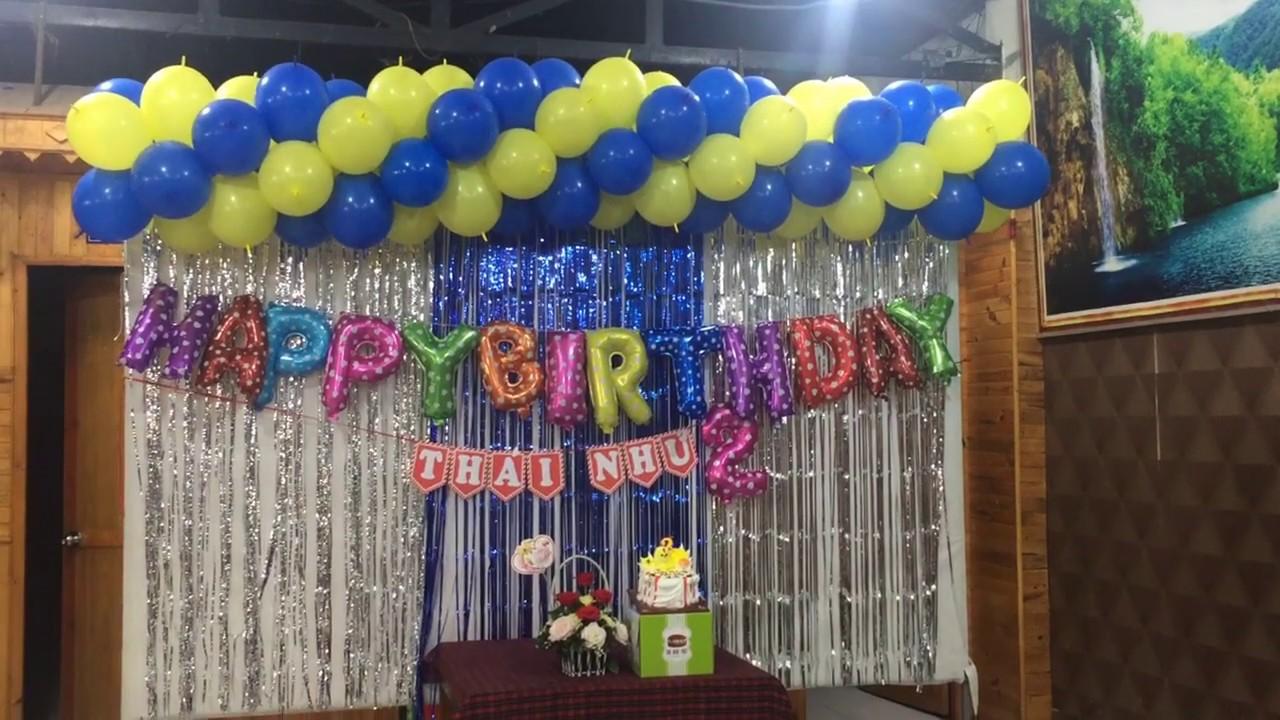Hướng dẫn làm bong bóng trang trí sinh nhật tại nhà cho bé- Thầy linh bong bóng