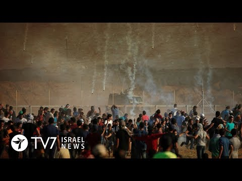 Gazan Palestinians resume violent protests along border with Israel - TV7 Israel News 10.09.18