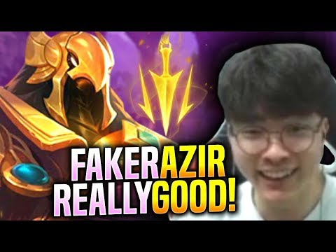 FAKER IS SO GOOD WITH AZIR! - SKT T1 Faker Plays Azir vs Karma Mid!   S9 KR SoloQ Patch 9.13