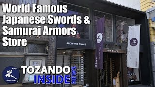 World Famous Japanese Swords & Samurai Armor Store - New Sword Case - Tozando Inside News #19