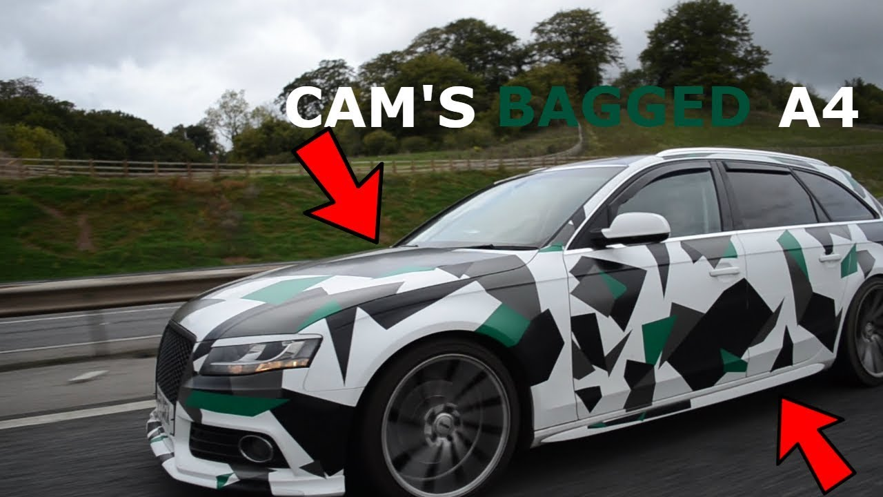Cam S Bagged Camo Wrapped Audi A4