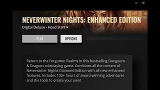 Live Stream of Neverwinter Nights Enhanced Edition Digital Deluxe Head Start! Part Deux