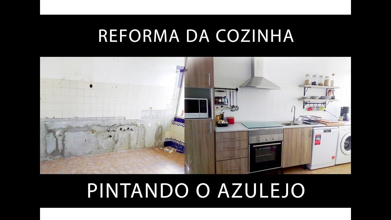 Pintando o azulejo reforma da cozinha 1 parte youtube for Pintura para ceramicos y azulejos