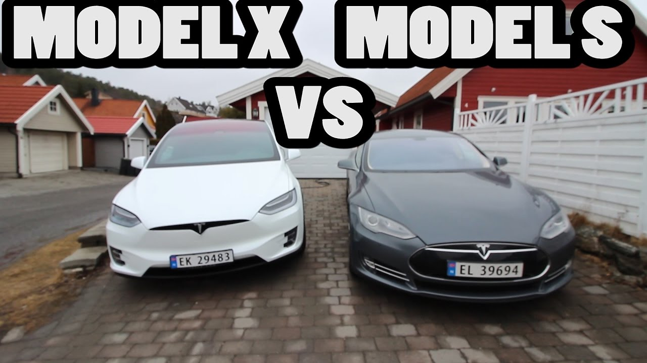 comparaci n tesla model x vs model s youtube. Black Bedroom Furniture Sets. Home Design Ideas