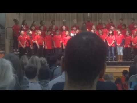 Bellows Spring Elementary School Singing at 5th grade in this night