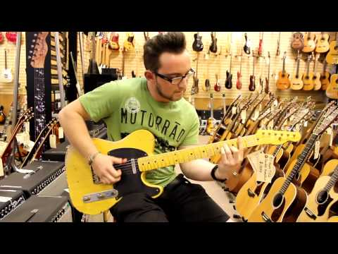 Adrian Whyte playing Lady Gaga at Norman's Rare Guitars