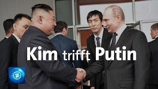 Erstes Treffen in Russland: Putin empfängt Machthaber Kim aus Nordkorea