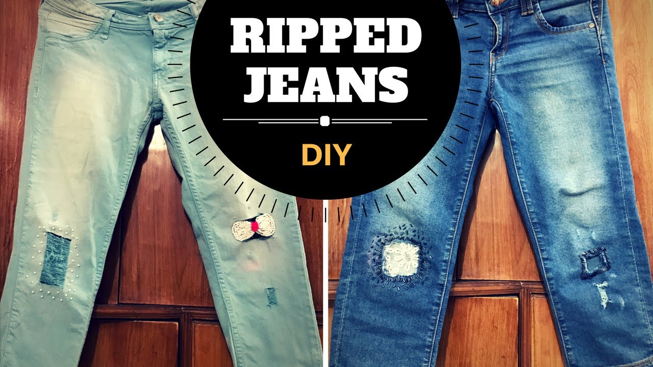 DIY Ripped Jeans for Women
