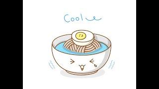 시원한 냉면 그리기 (음식 그리는법)