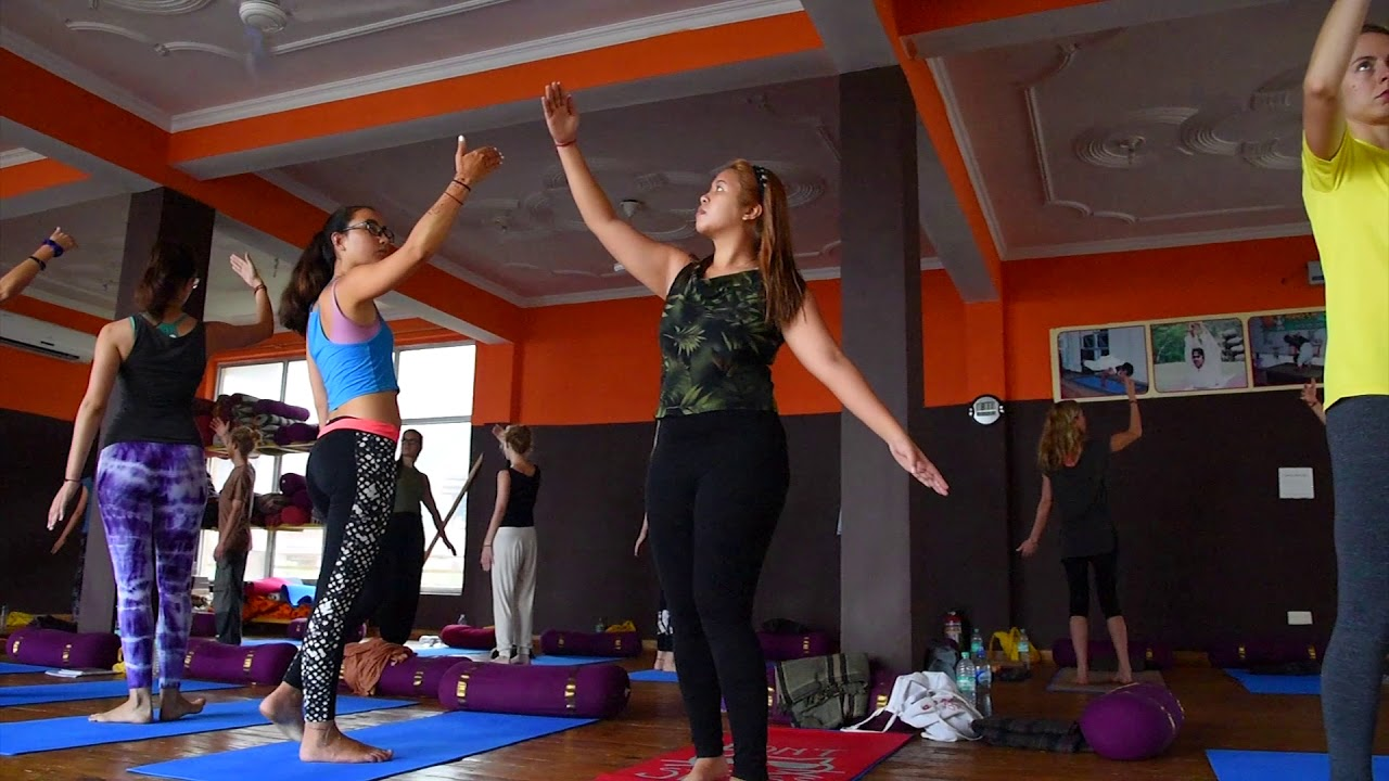 OSHO Whirling Meditation at AYM Yoga School - Rishikesh - India