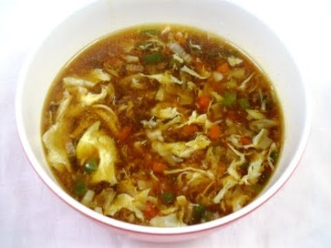 Chicken Hot And Sour Soup Recipe -- Restaurant Style At Home