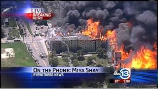 Houston FIRE!  Montrose High end apartment complex burned to the ground