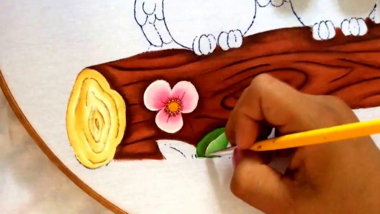158.- Pintura en tela cesped de buhos - YouTube