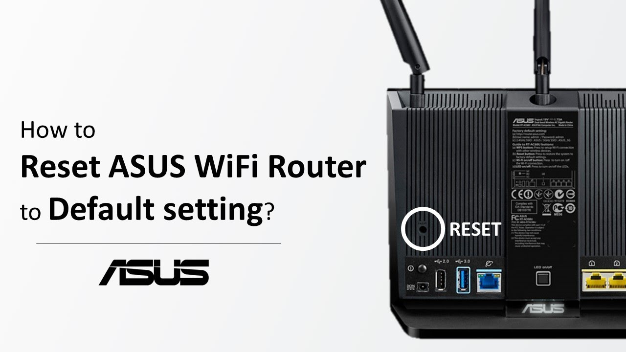 Wireless Router] How to reset the router to factory default