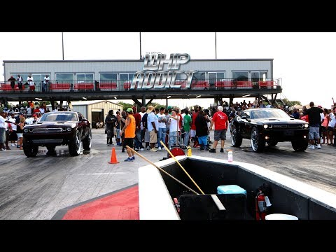 WhipAddict: Texas WhipFest 2k18 Car Show & Grudge Race, Part 3, Track Action, Big Rim Racing