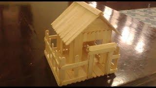 Nhà Mô Hình Bằng Que Kem Gỗ  Đẹp   How to Make Popsicle Stick House by Wood