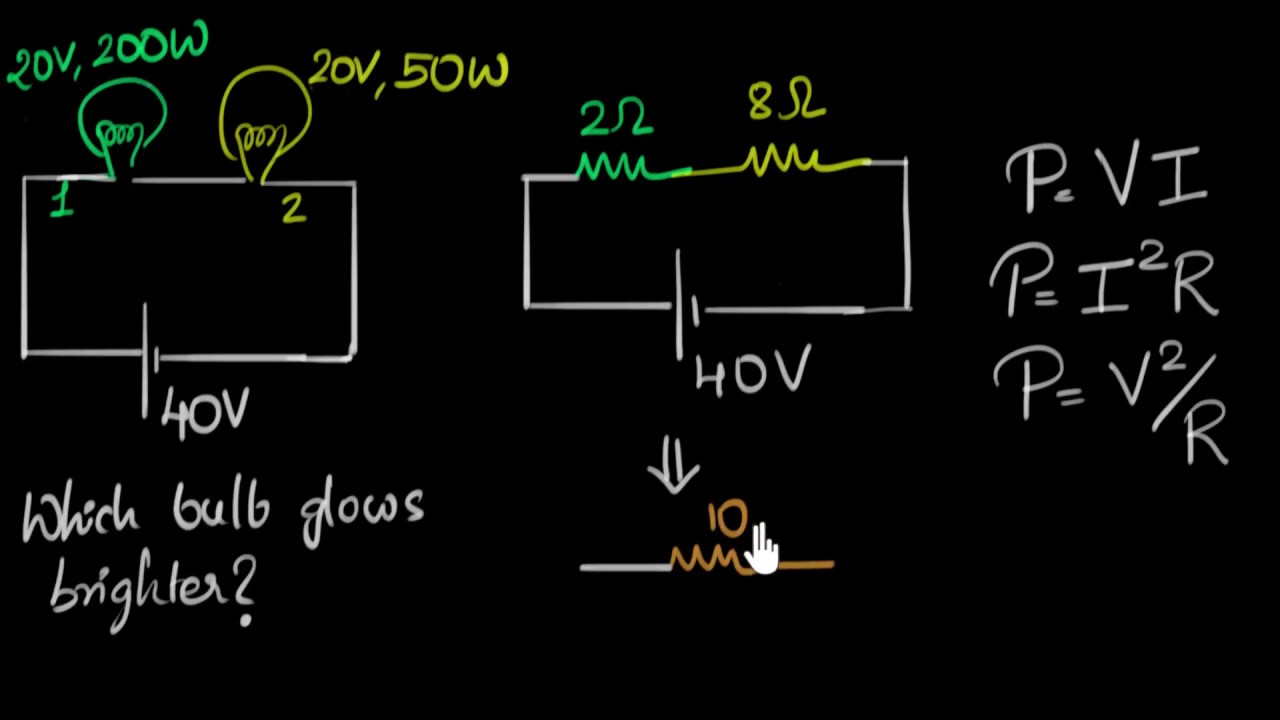 Solved Example Power Dissipated In Bulbs Video Khan Academy