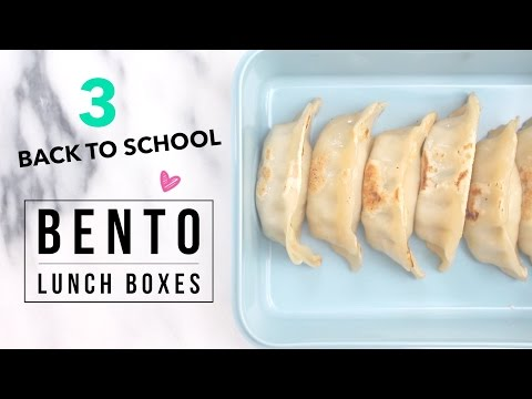 3 Easy Back to School Bento (Asian Lunch) Ideas!