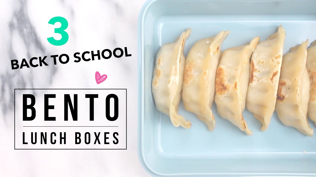 3 easy back to school bento asian lunch ideas youtube forumfinder Choice Image