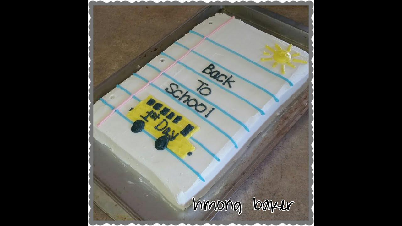 BACK TO SCHOOL CAKE. Cake Decorating - YouTube