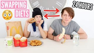 I Swapped DIETS With My BOYFRIEND For 24 HOURS...