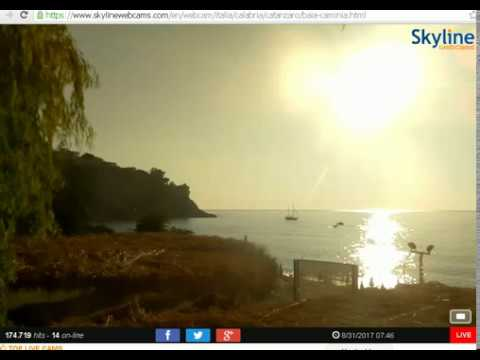 08-31-2017 Caminia Bay Italy WEIRD SHAPED SUNRISE