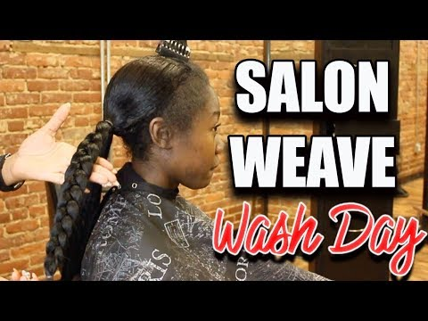 HOW TO WASH YOUR HAIR UNDER YOUR SEW IN WEAVE -  *Salon Version* Weave Shampoo Day Tips