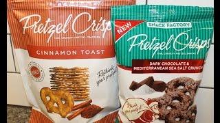 Snack Factory Pretzel Crisps Part V: Cinnamon Toast And Dark Chocolate Mediterranean Sea Salt Review