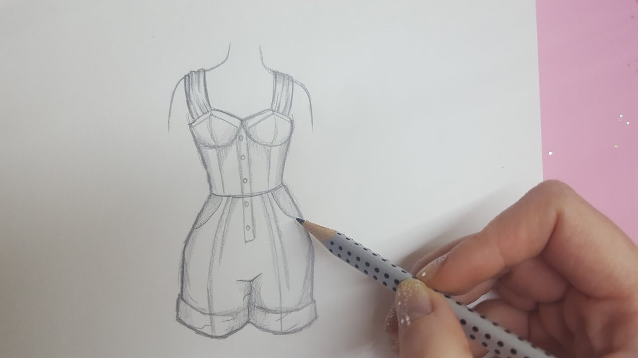 How To Draw Clothes Kleidung Malen Foxy Draws Youtube