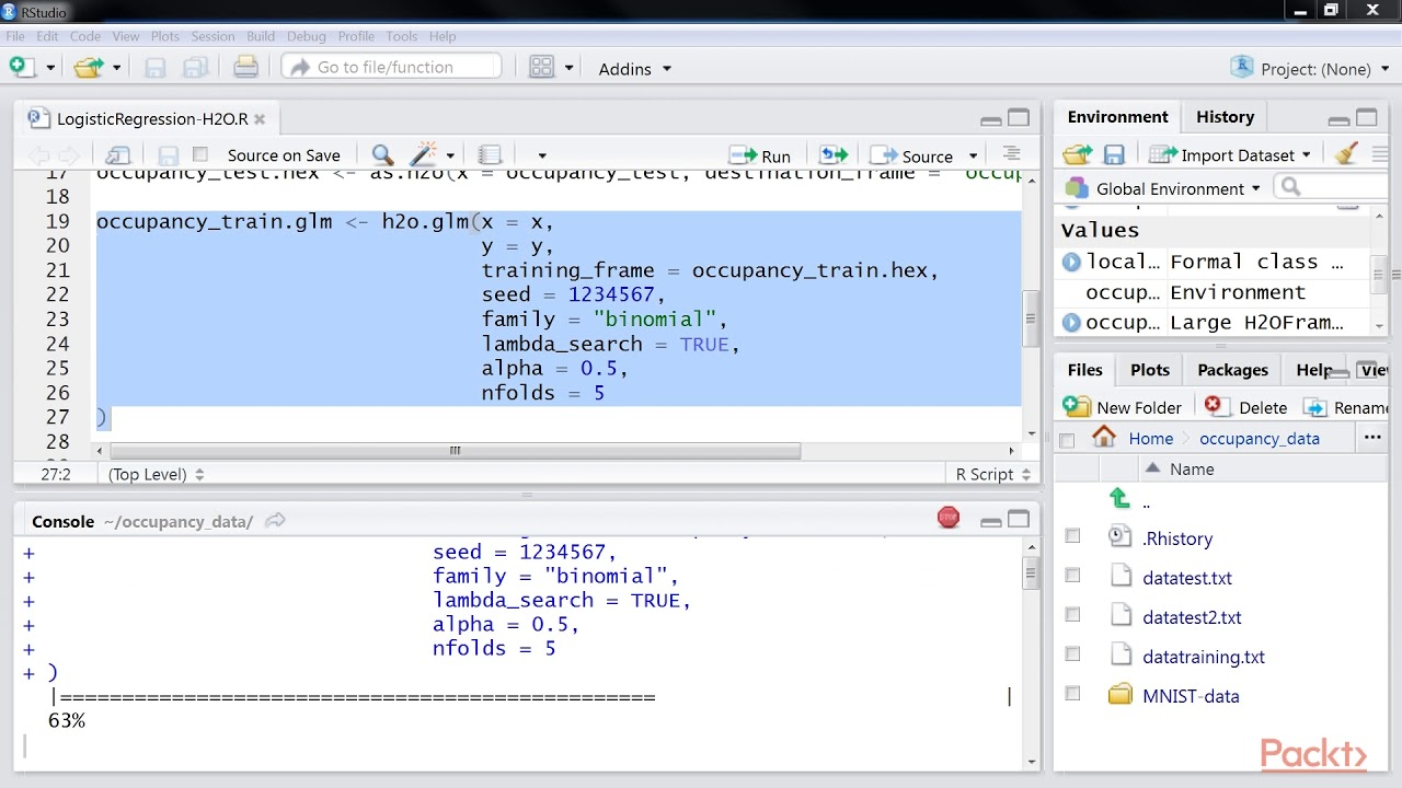 R Deep Learning Solutions: Performing Logistic Regression Using H2O|  packtpub com