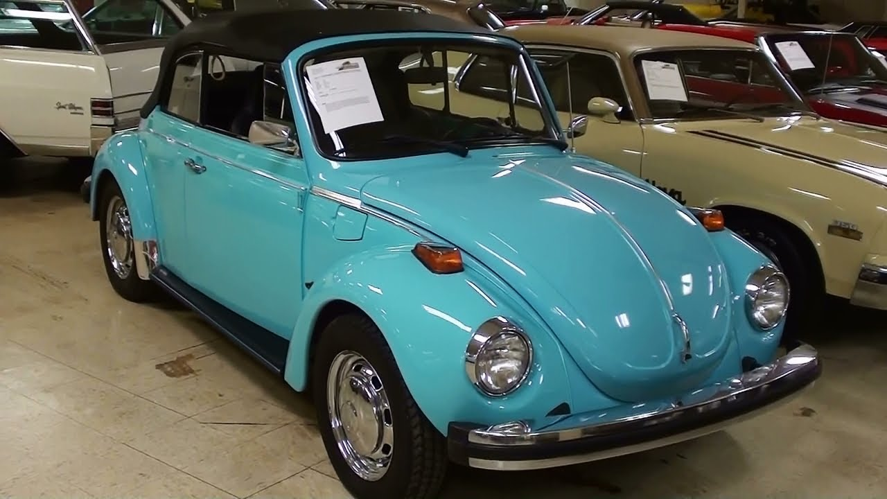 1974 vw super beetle convertible 1600cc youtube. Black Bedroom Furniture Sets. Home Design Ideas
