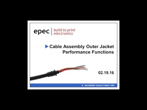 Cable Assembly Outer Sheath Jacket Performance Functions