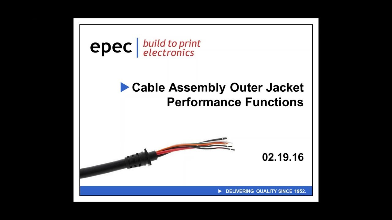 Cable assembly outer sheath jacket performance functions youtube cable assembly outer sheath jacket performance functions greentooth Images