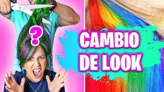 DE QUÉ COLOR ME PINTO EL CABELLO?! 😱 Cambio de Look Extremo?! 😅 Sandra Cires Art ft HaroldArtist