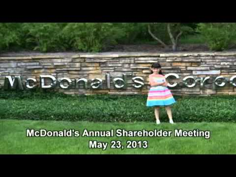 Girl to McDonald's CEO 'Stop Trying to Trick Kids'